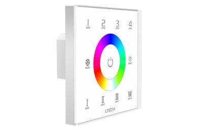 Dotykový čtyřzónový ovladač RGBW na stěnu B typ RF+DMX512(3204000395)