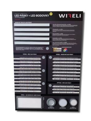Vzorková tabule s LED pásky WIRELI 2021(3205180120)