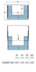 Koš Elegant pod dřez - 900, 864-868x477x170 mm, chrom(1002921001)