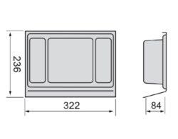 Rozdělovník ONDA 350 do zásuvky, 236x322x84 mm, plast, antracit(3108005600)