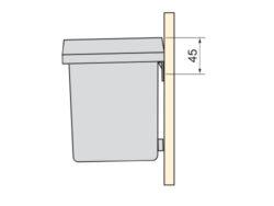 Držák na dvířka pro koš ONDA 5l(3108007600)