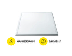 LED panel 600x600 mm 40W bílá teplá 4000 lm IP40