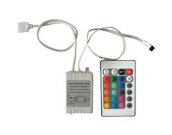 RGB ovladač LED s DO 24 tlačítek IR-RGB dálkový IR ovladač s přijímačem 24 tlačítek