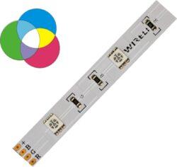 RGB LED pásek 5050  30 WIRELI 7,2W 0,6A 12V-RGB LED pásek s velkou roztečí LED.