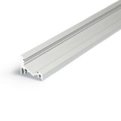 Profil WIRELI CORNER10 BC/UX stříbrný elox, 2m (metráž)-Universální přisazený úhlový  profil se svitem v úhlu 60° nebo 30°, s bohatou výbavou doplňků pro montáž a různými druhy difůzorů. Snadná práce a profesionální vzhled.