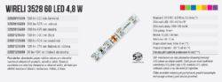 Color LED pásek WIRELI 3528  60 370nm 4,8W 0,4A 12V (fialová - purpurová do růžo(3202123609)