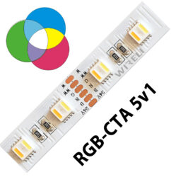 RGB-CTA LED pásek 5050  60 WIRELI 24W 1A 24V-Umožňuje libovolné nastavení barevné teploty světla a intenzity světla pomocí sofistikovaného CCT ovladače.