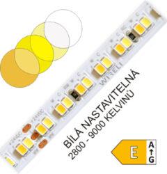 CTA LED pásek 2835 224 WIRELI 2x1250lm 23W 0,96A 24V (variabilní bílá)-Umožňuje libovolné nastavení barevné teploty světla a intenzity světla pomocí sofistikovaného CCT ovladače. Vysoká hustota LED umožňuje vytvářet souvislé světelné linie.