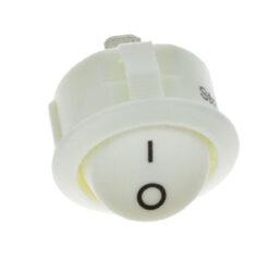 Vypínač do desky R13 kolébkový, bílý-Vypínač pro montáž do nábytkové desky