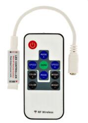 RGB ovladač LED mini RF s dálkovým.ovládáním-Miniaturní RGB RF dálkový ovladač s přijímačem