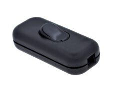 Vypínač šňůrový kolébkový, 230V, černý-Vypínač pro všeobecné použití