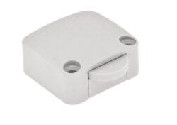 Vypínač mechanický 12V/max.2A, 34x32x15mm, bílý-Spínač pro osvětlení vnitřního prostoru skříně při otevření dveří