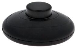 Vypínač šňůrový nášlapný kruhový, 230V, černý-Nášlapný vypínač pro všeobecné použití
