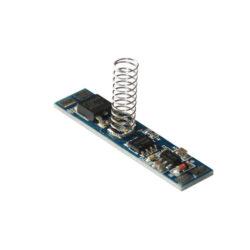 Vypínač a stmívač do LED profilu kapacitní LUX E 10x43 mm-Vypínač a stmívač s dotykovým kapacitním ovládáním do profilu slouží k spínání LED osvětlovacích sestav malého výkonu.