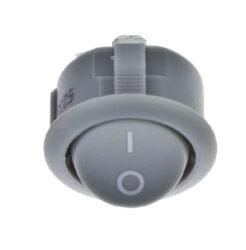 Vypínač do desky kolébkový R13, 250V/max.16(8)A, šedý-Vypínač pro montáž do nábytkové desky