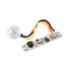 Pohybový PIR spínač do profilu LUX C prodloužený 10x52 mm-Pohybový PIR  spínač slouží k bezkontaktnímu spínání LED osvětlovacích sestav malého výkonu na principu odrazu infračerveného záření vyzařovaného nebo odraženého z objektů.