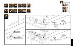 Dotykový spínač se stmívačem s pamětí k zavrtání do korpusu PLAST bílý(3204401606)