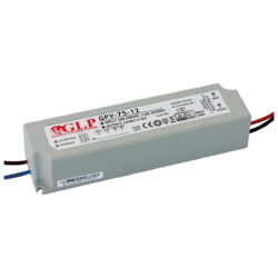 Zdroj napětí 12V 72W(!!!) 6A IP67 GLP typ GPV-75-12-Standardní napěťový napájecí zdroj pro LED v krytí IP67 12V/75W