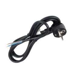 Flexošňura 3 žilová zástrčka s CZ kolíkem 1,5m-Pro připojení spotřebiče do elektrorozvodné sítě (barva černá)