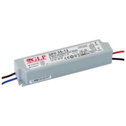 Zdroj napětí 12V  35W 3A IP67 GLP typ GPV-35-12-Standardní napěťový napájecí zdroj pro LED v krytí IP67 12V/35W