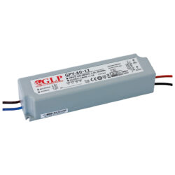 Zdroj napětí 12V  60W 5A IP67 GLP typ GPV-60-12-Standardní napěťový napájecí zdroj pro LED v krytí IP67 12V/60W