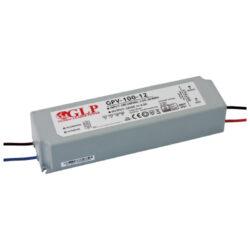 Zdroj napětí 12V 100W 8,3A IP67 GLP typ GPV-100-12-Standardní napěťový napájecí zdroj pro LED v krytí IP67 12V/100W