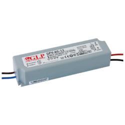 Zdroj napětí 24V  60W 2,05A IP67 GLP typ GPV-60-24-Standardní napěťový napájecí zdroj pro LED v krytí IP67 24V/60W