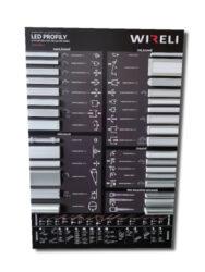 Vzorková tabule s LED profily WIRELI 2021