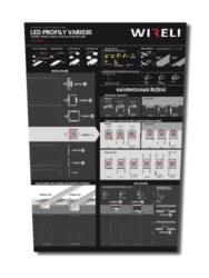 Vzorková tabule s LED profily WIRELI VARIO 2021