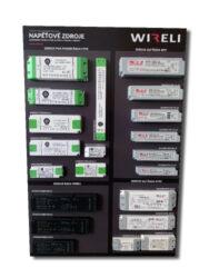 Vzorková tabule s LED napájecími zdroji WIRELI 2021