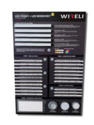 Vzorková tabule s LED pásky WIRELI 2021