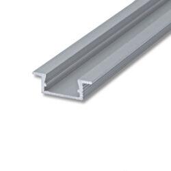 Profil WIRELI 02 ZAPUŠTĚNÁ stříbrný elox, 26x8x4000mm (metráž)-Hliníkový vkládaný profil.
