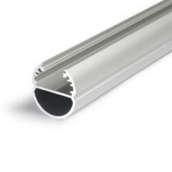 Profil WIRELI OVAL20 BC/ hliník anoda, 2m (metráž)-Svitící závěsná tyč do šatní skříně.