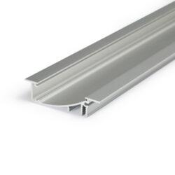 Profil WIRELI FLAT H/UX hliník anoda, 2m (metráž)-Hliníkový LED profil s nepřímým svícením. ;