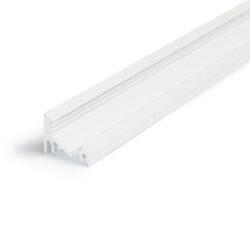 Profil WIRELI CORNER10 BC/UX bílý lak, 2m (metráž)-Universální přisazený úhlový  profil se svitem v úhlu 60° nebo 30°, s bohatou výbavou doplňků pro montáž a různými druhy difůzorů. Snadná práce a profesionální vzhled.