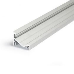 Profil WIRELI CORNER14 EF/Y stříbrný elox, 2m (metráž)-Universální přisazený úhlový  profil se svitem v úhlu 60° nebo 30°, s bohatou výbavou doplňků pro montáž a různými druhy difůzorů. Snadná práce a profesionální vzhled.