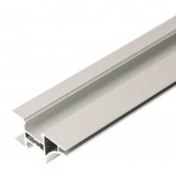 Profil WIRELI EDGE A hliník anoda, 3m (metráž)-Lze krátit, ale minimální prodejní množství 3 m (- případné prořezy).  Pro čisté linie. Úchyt a světelná hrana na horní skříňky.