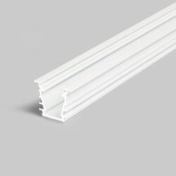 Profil WIRELI DEEP10 BC/UX bílý lak, 2m (metráž)-Hliníkový LED osvětlovací profil s velkou zástavnou hloubkou pro vytvoření souvislé světelné linie.