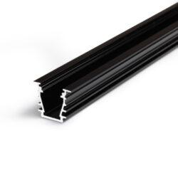 Profil WIRELI DEEP10 BC/UX černý elox, 2m (metráž)-Hliníkový LED osvětlovací profil s velkou zástavnou hloubkou pro vytvoření souvislé světelné linie.