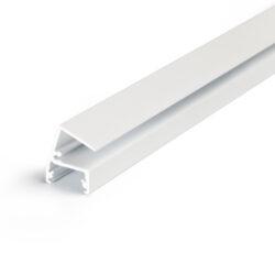 Profil WIRELI EDGE10 BC/ bílý komaxit 2m-Designový profil pro LED osvětlení vitrín a polic.