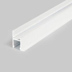 Profil WIRELI FRAME14 BC/Q bílý komaxit, 2m (metráž)-Profesionální profil pro zakončení sádrokartonu světelnou linkou.