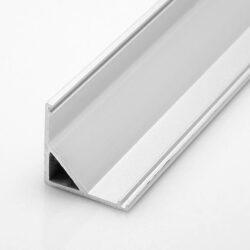 Profil WIRELI UNI CORNER rohová lišta 16x16x2 m hliník anoda (metráž)-Rohový hliníkový LED profil se snadnou montáží 45°.