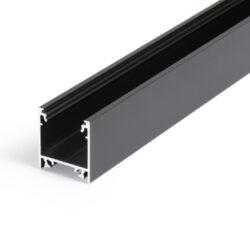Profil WIRELI LINEA20 EF/TY černý elox, 2m (metráž)-Moderní profil pro stropní liniová LED svítidla.