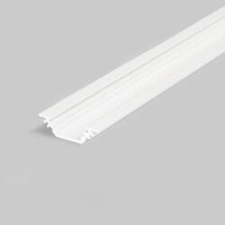 Profil WIRELI TRIO10 BC/ bílý lak, 2m (metráž)-Miniaturní rohový profil 45°nebo pro kolmé zafrézování do podložky.
