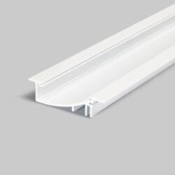 Profil WIRELI FLAT8 H/UX bílý komaxit, 2m (metráž)-Hliníkový LED profil s nepřímým svícením.