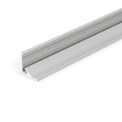 Profil WIRELI CABI12 E/ stříbrný elox, 2m (metráž)-Universální rohový LED profil umožňující montáž se směrem svitu 60°nebo 30°.