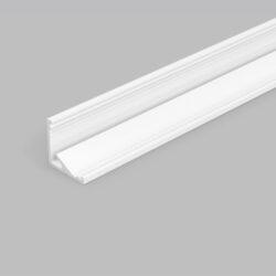 Profil WIRELI CABI12 E/ bílý lak, 2m (metráž)-Universální rohový LED profil umožňující montáž se směrem svitu 60°nebo 30°.
