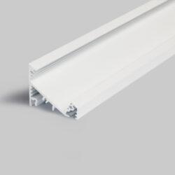 Profil WIRELI CORNER27 G/UX bílý lak, 2m (metráž)-Universální přisazený úhlový  profil se svitem v úhlu 60° nebo 30°, s bohatou výbavou doplňků pro montáž a různými druhy difůzorů. Snadná práce a profesionální vzhled.