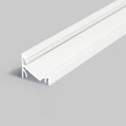 Profil WIRELI CORNER14 EF/Y bílý lak, 2m (metráž)-Universální přisazený úhlový  profil se svitem v úhlu 60° nebo 30°, s bohatou výbavou doplňků pro montáž a různými druhy difůzorů. Snadná práce a profesionální vzhled.
