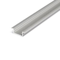 Profil WIRELI BEGTIN12 J/S stříbrný elox, 2m (metráž)-Profil vkládaný do vyfrézované drážky.